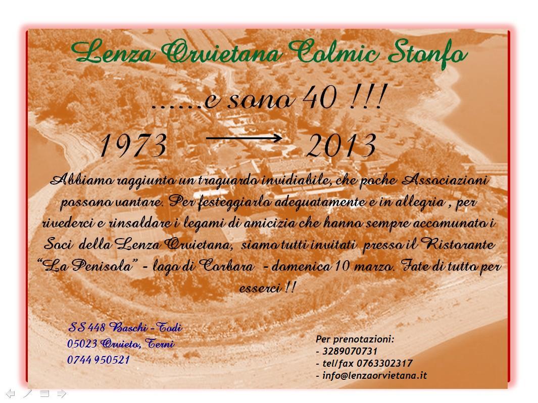 Extrêmement Festa del 10 marzo 2013 – Quarantennale | Lenza Orvietana Colmic  DZ05